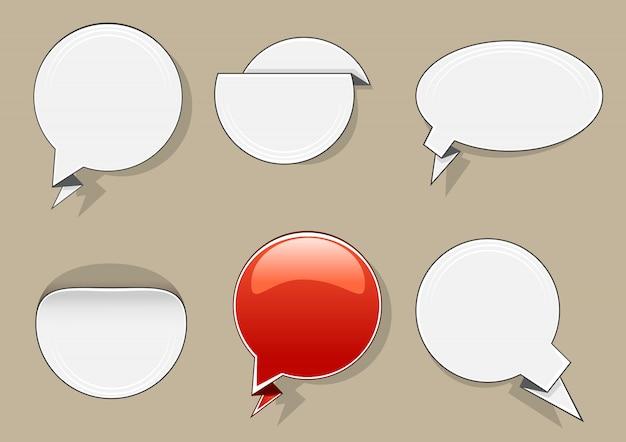 Bannières de cercle blanc et rouge