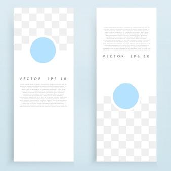Bannières et cercles vectoriels.