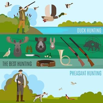 Bannières de chasse
