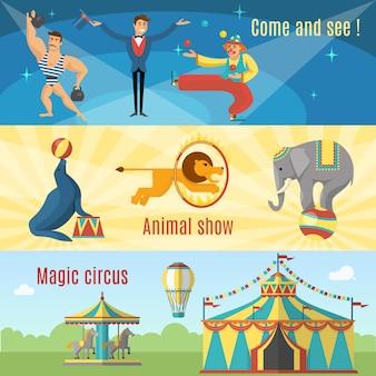 Bannières de cirque plates