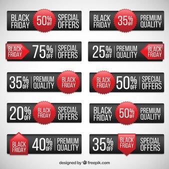 Bannières collection de black friday