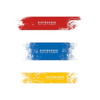 Bannières colorées en détresse