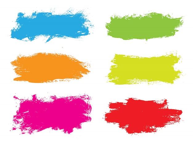 Bannières colorées grunge