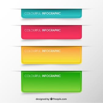 Bannières colorées infographiques