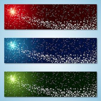 Bannières colorées de noël et du nouvel an