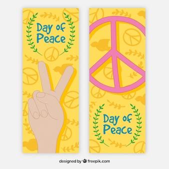 Bannières colorées pour le jour de la paix