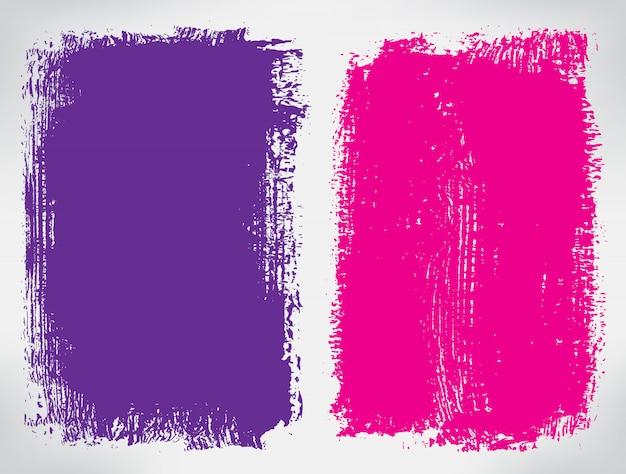 Bannières de couleur grunge