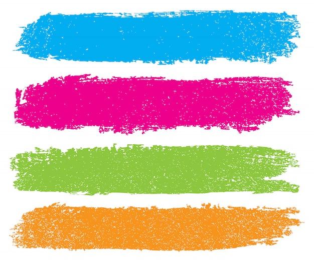 Bannières de coup de pinceau de couleur