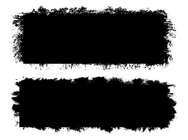 Bannières de coup de pinceau grunge abstraite