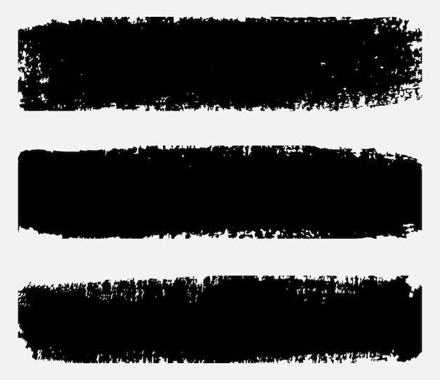 Bannières de coup de pinceau noir