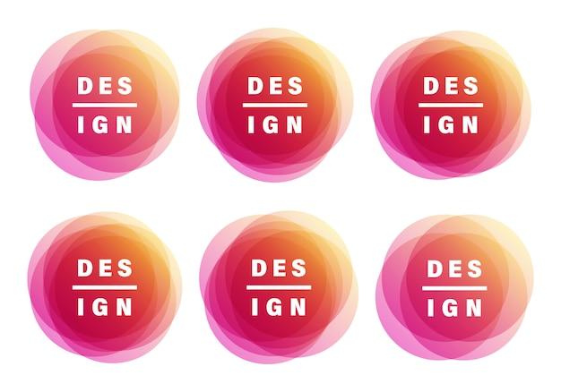 Bannières créatives. les couleurs de superposition façonnent la conception artistique.