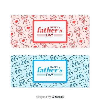 Bannières créatives de la fête des pères