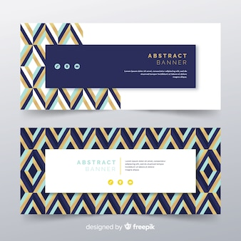 Bannières créatives avec des formes abstraites