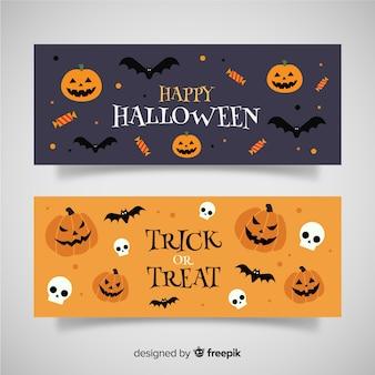Bannières créatives d'halloween
