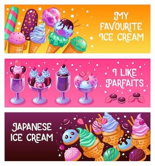 Bannières de crème glacée