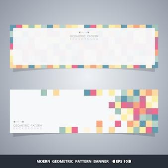 Bannières de cube coloré abstrait du concept de décoration moderne