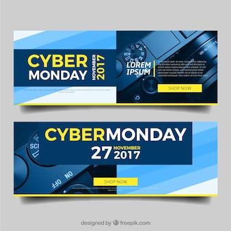 Bannières de cyber lundi