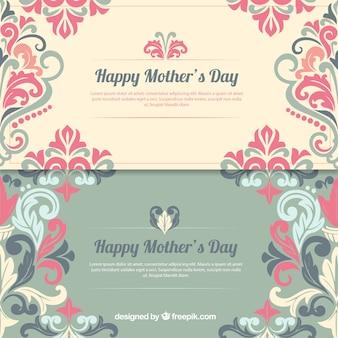 Les bannières day décoré mère heureux