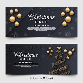 Bannières de vente de Noël