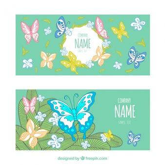 Bannières décoratives papillon
