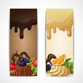 Bannières avec desserts