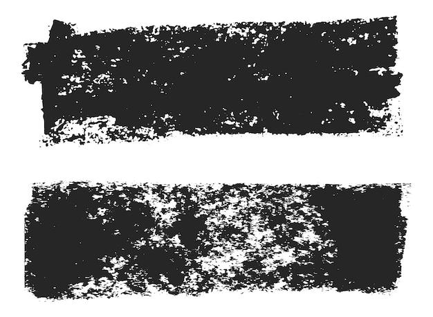 Bannières en détresse grunge noir
