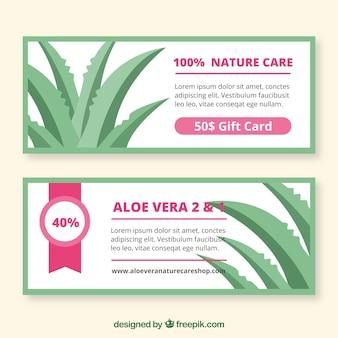 Bannières discount pour produits aloe vera