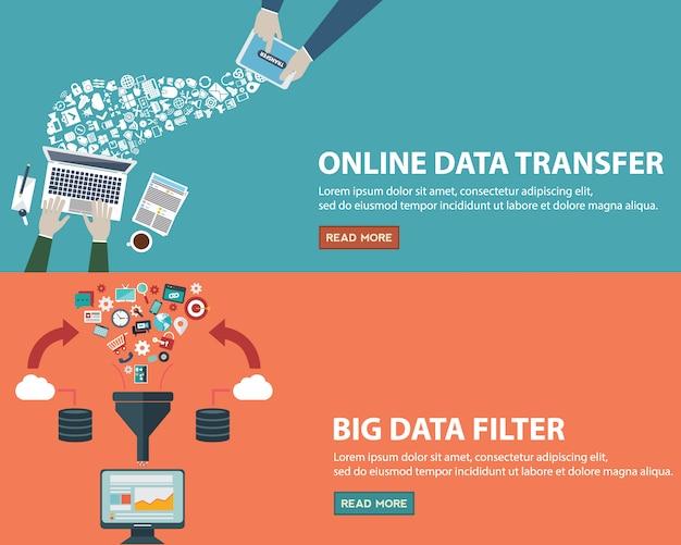 Bannières de données définies