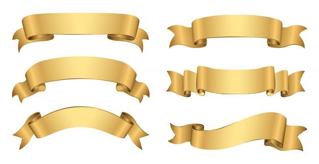 Bannières dorées rétro