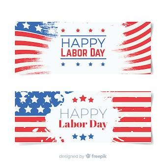 Bannières de drapeau de la fête du travail