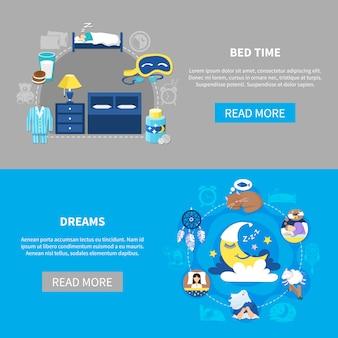 Bannières dreams bedtime