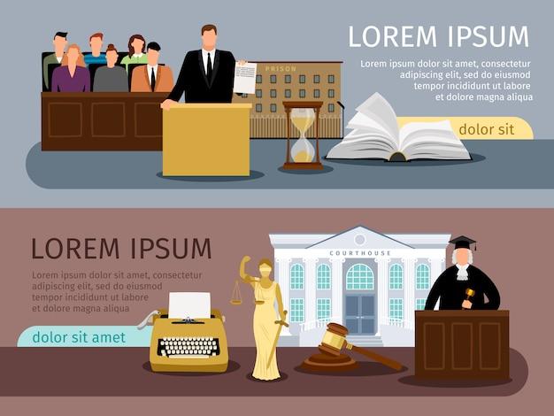 Bannières de droit et justice
