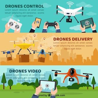 Bannières avec drones