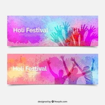 Bannières du festival holi