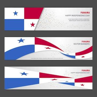 Bannières du jour de l'indépendance du panama