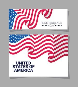 Bannières du jour de l'indépendance