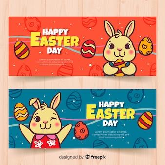 Bannières du jour de pâques