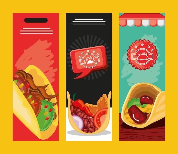Bannières du jour des tacos