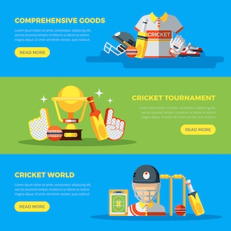 Bannières du monde de cricket