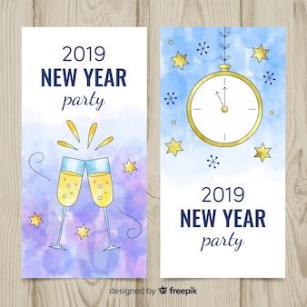 Bannières du parti du nouvel an 2019