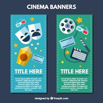 Bannières avec des éléments du cinéma