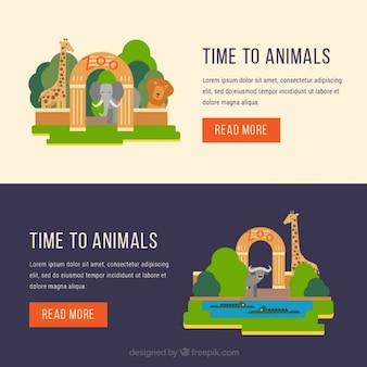 Bannières de l'entrée du zoo