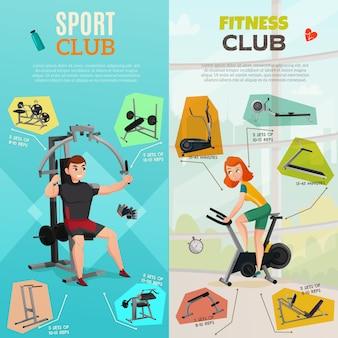 Bannières d'équipement d'exercice