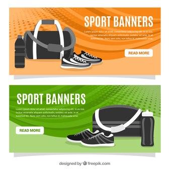 Bannières l'équipement sportif