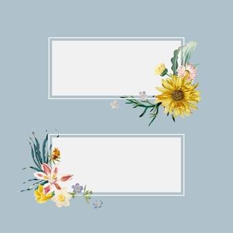 Bannières d'été florales