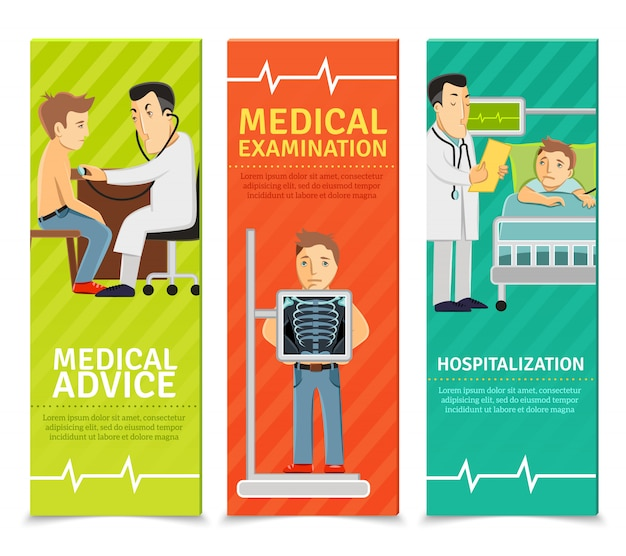 Bannières d'examen médical
