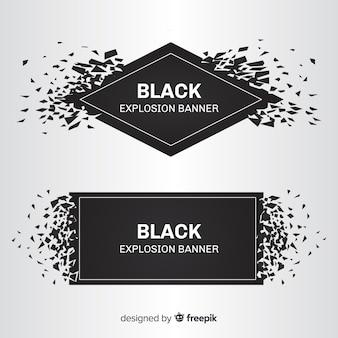 Bannières d'explosion noire