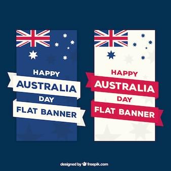 Bannières fantastiques pour jour de l'australie avec des rubans décoratifs