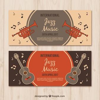 Bannières festival de jazz rétro