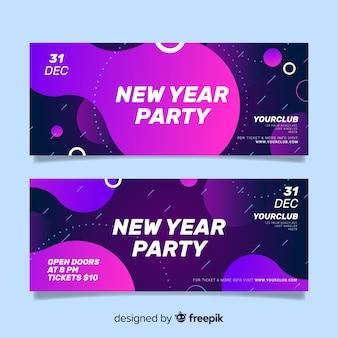 Bannières de fête du nouvel an 2020